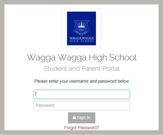 Student / Parent Portal - Wagga Wagga High School
